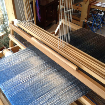 Cascade Blue on loom.
