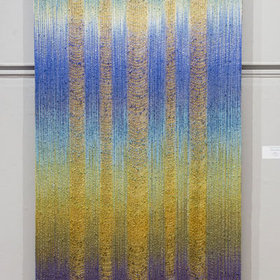 Vitality, hand dyed and woven.
