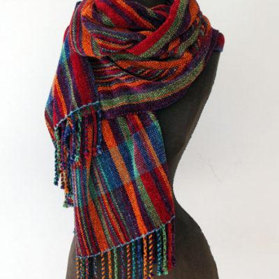 Chenille Striped Chenille Wrap $195