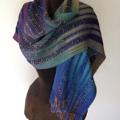Summer Wrap Hand dye and woven silk & rayon $195