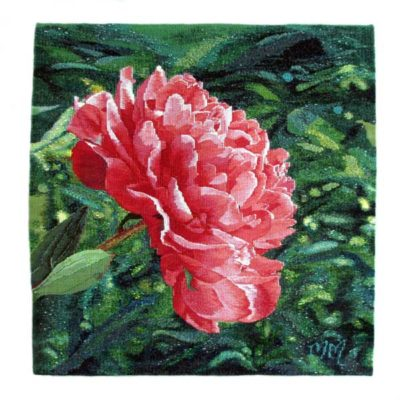 Peony       Hand-dyed and woven