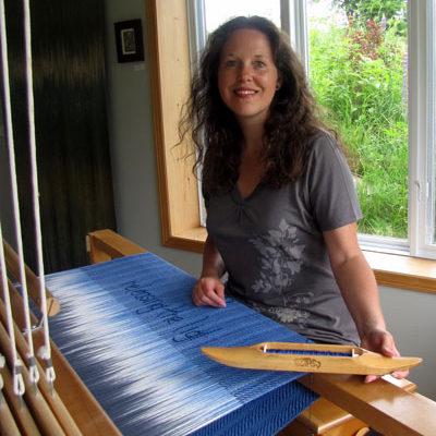 Marni working at loom