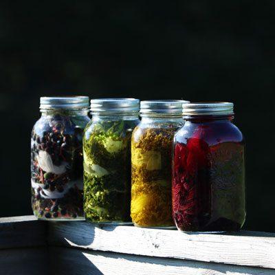 Solar Dye Jars