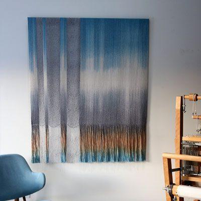 Woven Panel in studio before installation