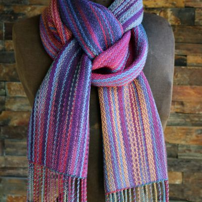 Silk Striped Scarf  $145