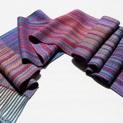 Silk Stripe Scarf detail  $145