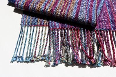 Plied fringe of Silk Stripe Scarf  $145